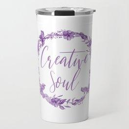 Creative Soul Floral Wreath Artists All Creators Travel Mug