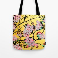 blossom Tote Bags featuring Blossom by marlene holdsworth