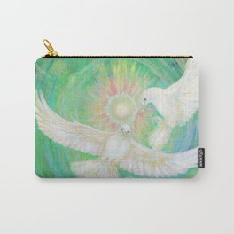 Doves, healing, green energy Carry-All Pouch