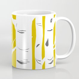 Mustard Birches Coffee Mug