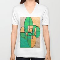 equality V-neck T-shirts featuring Sublime Equality by Robin Curtiss