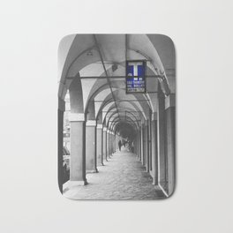 Blue Tabacchi Street Photography in Bologna Bath Mat