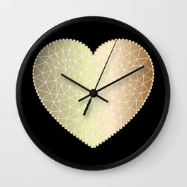 Low poly heart 1 Wall Clock