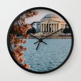 Cherry Blossoms at the Jefferson Wall Clock