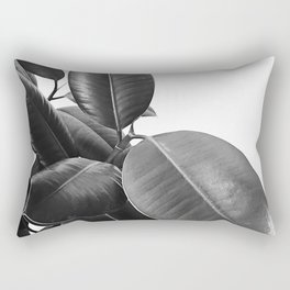 Ficus Elastica #21 #BlackAndWhite #foliage #decor #art #society6 Rectangular Pillow