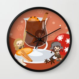 Mulled Wine Wall Clock