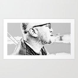 po and cig Art Print
