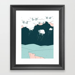 Where Do Good Sheep Go... Framed Art Print
