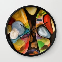 Autumnal trees Wall Clock
