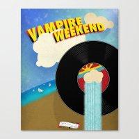 vampire weekend Canvas Prints featuring Vampire Weekend - Chicago by Luke Eckstein