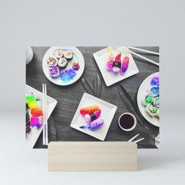 Rainbow Roll Selective Saturation Recolor Mini Art Print