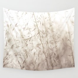 White pampas grass II Wall Tapestry