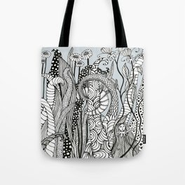 """Little girl in the woods"" Tote Bag"