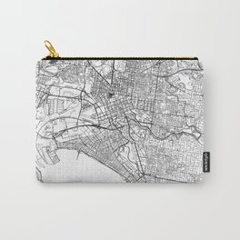 Melbourne City Map Australia White and Black Carry-All Pouch