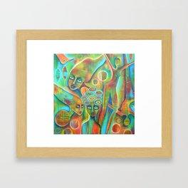 Still, like air, she'll rise Framed Art Print