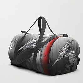 Kingfisher-1a. Black on white background-(Red eyes series) Duffle Bag