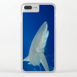 Deep Blue Lemon Clear iPhone Case