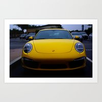 porsche Art Prints featuring Porsche by Matthew Soto