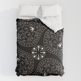 White & Black Coordination Comforters