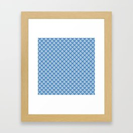 Chinoiseries Butterfly Tiles Blue Framed Art Print