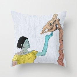 do not touch dead animals - giraffe Throw Pillow