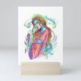 Kimono Blue Skin Mermaid  Mini Art Print
