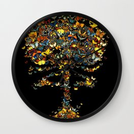 Atomic Butterfly Wall Clock