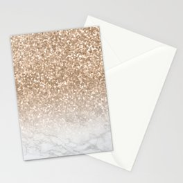 Sparkle - Gold Glitter and Marble Stationery Cards