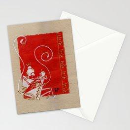 Lord Hanuman with Maa Anjani / Painting of Monkey King / Original warli painting of Amrita Gupta Stationery Cards