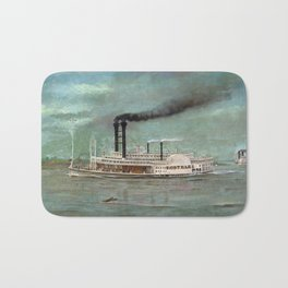 Steamboat Robert E. Lee Painting Bath Mat