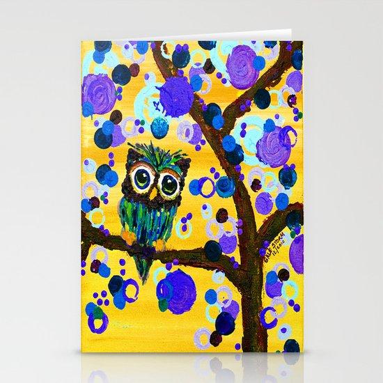 :: Sunshine Gemmy Owl :: Stationery Cards
