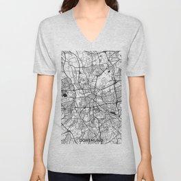 Dortmund Map Gray Unisex V-Neck
