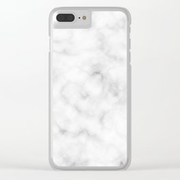 Marble White Texture Clear iPhone Case