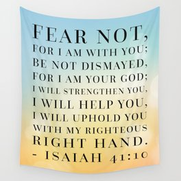 Isaiah 41:10 Bible Quote Wall Tapestry