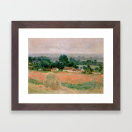 Haystack at Giverny Framed Art Print