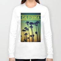 california Long Sleeve T-shirts featuring CALIFORNIA by RichCaspian