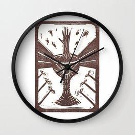 Manifestation (White) Wall Clock