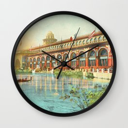 Chicago 1893 World's Fair, Red and Gold Transportation Building Wall Clock