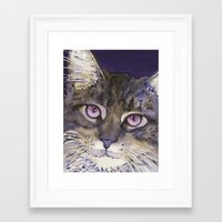cs lewis Framed Art Prints featuring Lewis by Cat Art by Lori Alexander