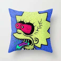 LISA GRIMMSON. (THE GRIMMSONS). Throw Pillow