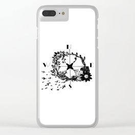 Compass Rose Garden Clear iPhone Case