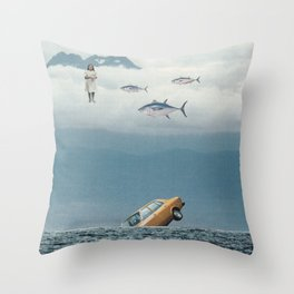 Lost Control Throw Pillow