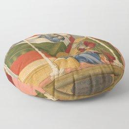 Sano di Pietro - The Birth and Naming of Saint John the Baptist Floor Pillow