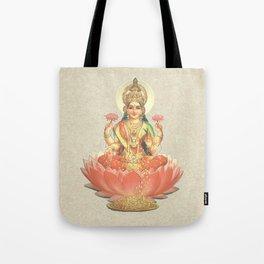 Lakshmi, Goddess of Love (Coral) Tote Bag