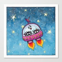Space Lovers Canvas Print