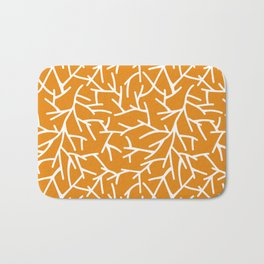 Branches - Orange Bath Mat