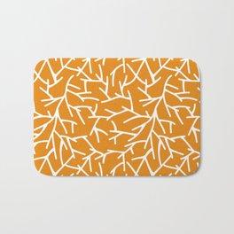 Branches - Orange Bath Mat