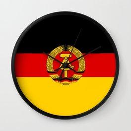 flag of RDA Or east Germany Wall Clock