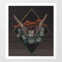 Heron Skulls Art Print