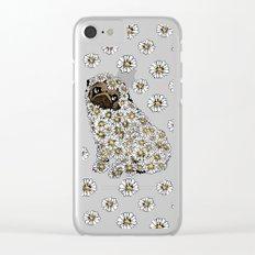 Pug Daisy Clear iPhone Case